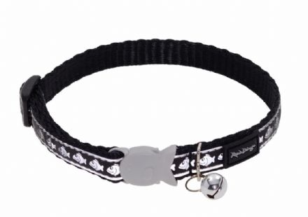 Red Dingo Cat Collar Reflective Black